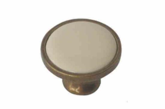 כפתור פורצלן חלק 3080 ברונזה